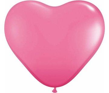 Hartjes Ballonnen Felroze - 100 stuks