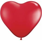 Hartjes Ballonnen Ruby Rood 28 cm - 100 stuks