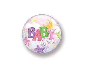 Geboorte Ballon Meisjes Bubbels 56cm - Per Stuk
