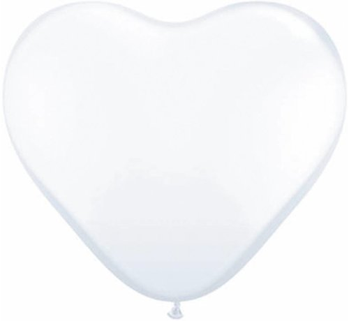 Hartjes Ballonnen Parelwit 11 Inch - 100 stuks