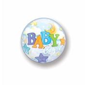 Geboorte Ballon Jongen Bubbels 56 cm - Per Stuk