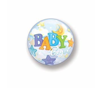 Geboorte Ballon Jongen Bubbels 56cm - Per Stuk