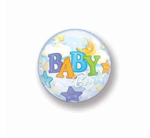 Geboorte bubble ballonnen jongen - per stuk