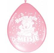 Geboorte ballonnen meisje - 8 stuks