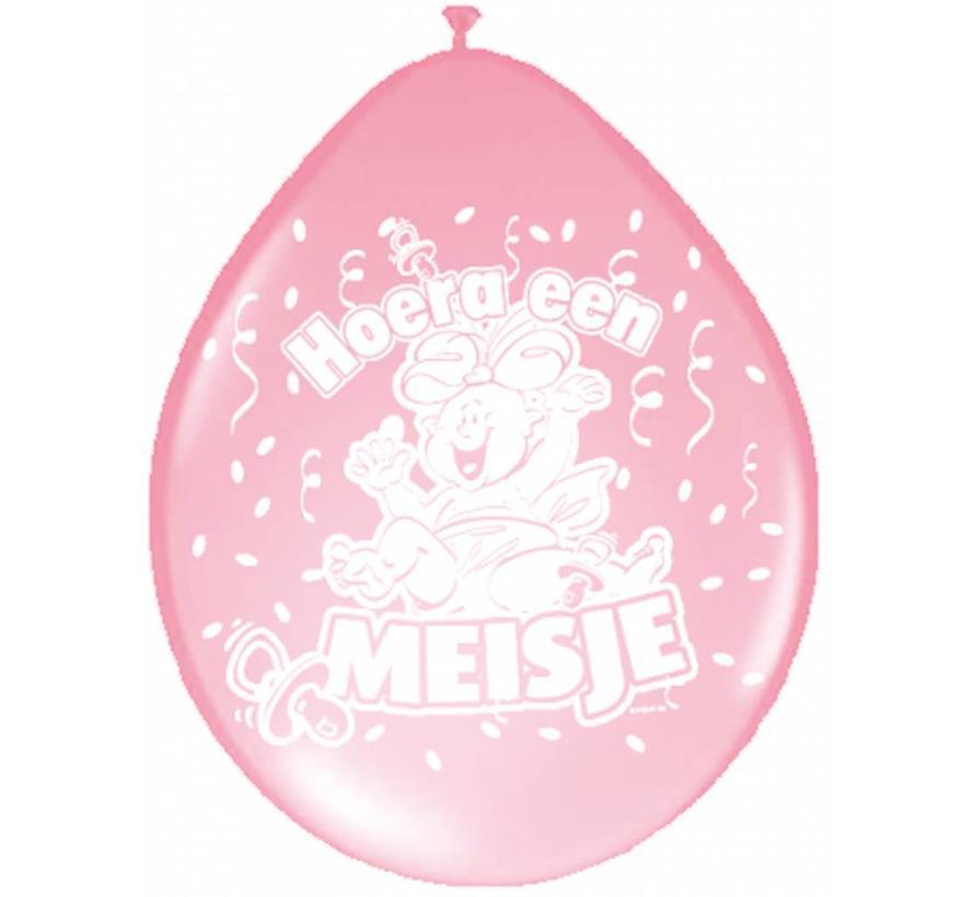 Geboorte Ballonnen Meisje Roze - 8 stuks