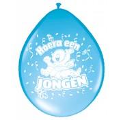 Geboorte Ballonnen Jongens Blauw 30 cm - 8 stuks