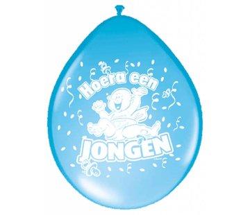 Geboorte Ballonnen Jongens Blauw - 8 stuks