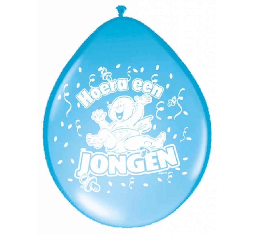 Geboorte Ballonnen Jongens Blauw 30cm - 8 stuks