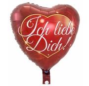 Hartjes Ballon Ich Liebe Dich 43cm - Per Stuk