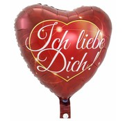 Hartjes Ballon Ich Liebe Dich - per stuk