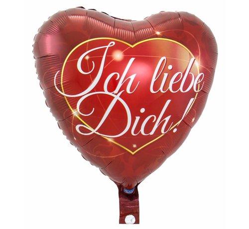 Ich Liebe Dich Hartjes Ballon - per stuk