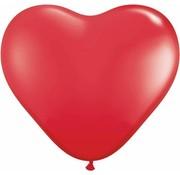 Hartjes Ballonnen Rood 13 cm - 100 stuks