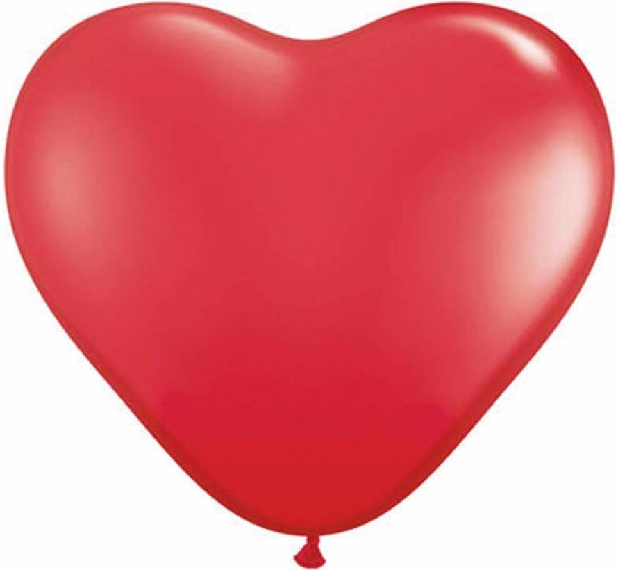 Hartjes Ballonnen Rood 13cm - 100 stuks