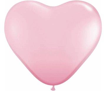 Hartjes Ballonnen Roze 13cm - 100 stuks