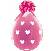 Stuffer Ballonnen Hartjes Roze - 25 stuks