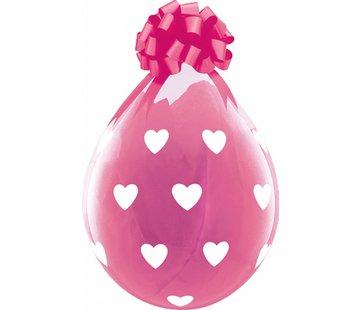 Stuffer Ballonnen Hartjes Roze 45cm - 25 stuks