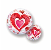 Hartjes Ballon Bubbelhartjes - 56 cm