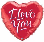 Hartjes Ballon I Love You 46cm - Per Stuk