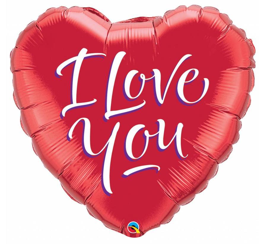 Hartjes Ballon I Love You - per stuk