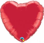 Hartjes Ballon Rood XL 45cm - Per Stuk
