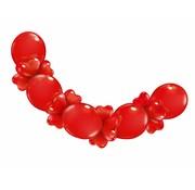 Hartjes ballonnenslinger rood - 210 cm