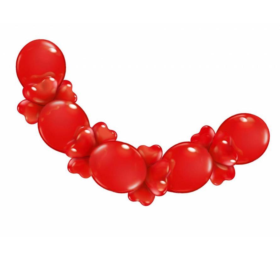 Hartjes Ballonnen Rode Slinger - 210cm