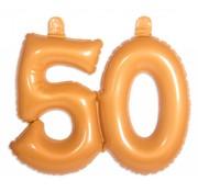 Opblaascijfer 50 Goud - per stuk