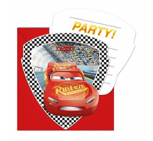 Disney Cars Uitnodigingen - 6 stuks