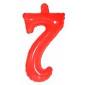 Opblaascijfer 7 Rood - per stuk