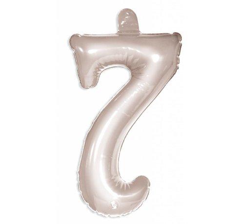 Opblaascijfer 7 Zilver - 36cm