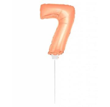 Cijfer Ballon Rosé Goud 7 - 36cm