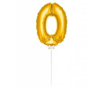 Cijfer Ballon Goud 0 - 36cm