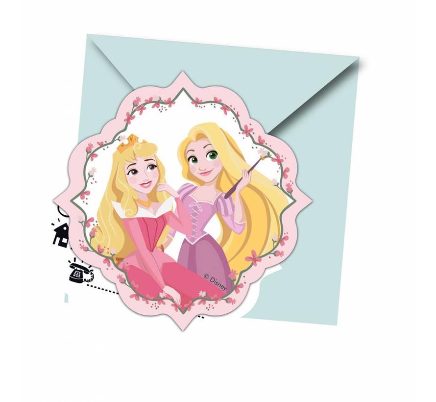 Disney Prinsessen Dream Uitnodigingen - 6 stuks