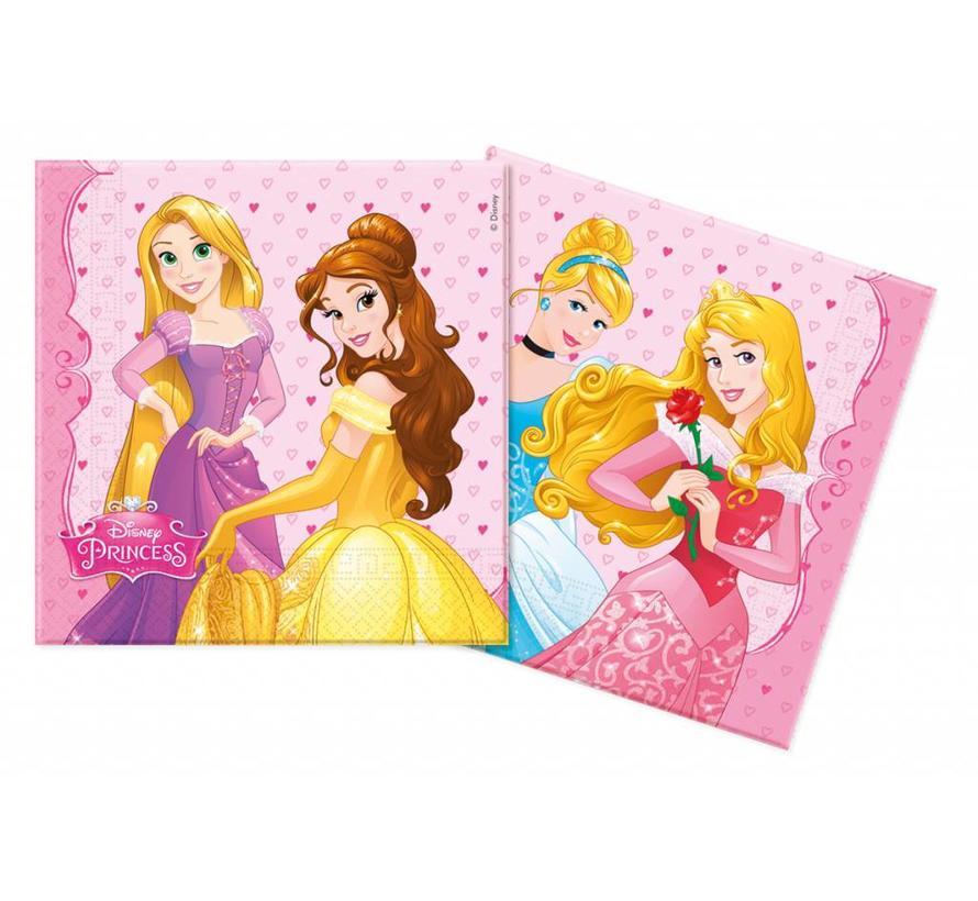 Disney Prinsessen Servetten - 20 stuks