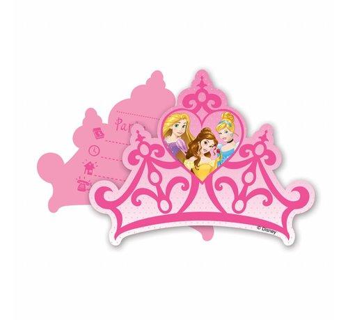 Disney Prinsessen Uitnodigingen - 6 stuks