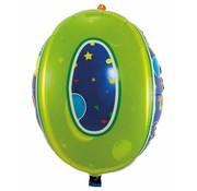 Latex Ballon Cijfer 0 - 56cm