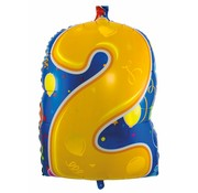 Folatexballon cijfer 2 - per stuk