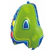 Folatexballon cijfer 4 - per stuk