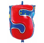 Latex Ballon Cijfer 5 - per stuk