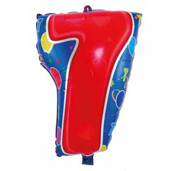 Latex Ballon Cijfer 7 - 56cm