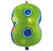 Latex Ballon Cijfer 8 - per stuk