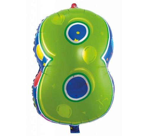 Latex Ballon Cijfer 8 - 56cm