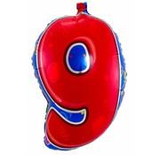 Latex Ballon Cijfer 9 - per stuk