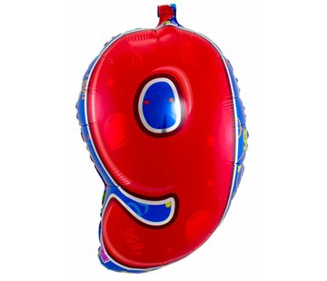 Latex Ballon Cijfer 9 - 56cm