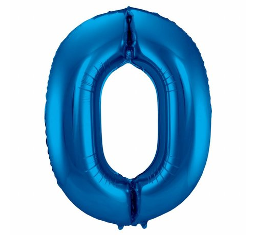 Cijfer Ballon Blauw 0 - 86cm