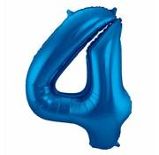 Cijfer Ballon Blauw 4 - per stuk