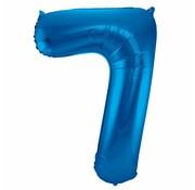 Cijfer Ballon Blauw 7 - per stuk