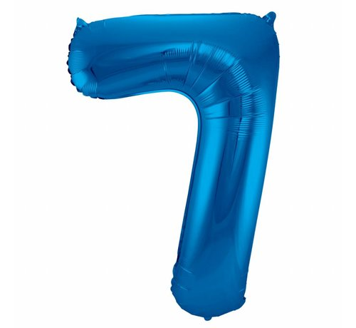 Cijfer Ballon Blauw 7 - 86cm