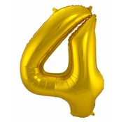 Cijfer Ballon Goud 4 - per stuk