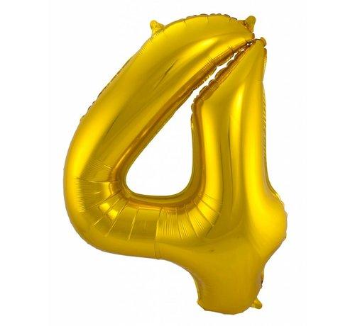 Cijfer Ballon Goud 4 - 86cm